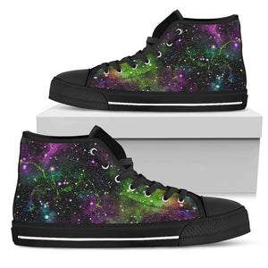 Abstract Dark Galaxy Space Print Women's High Top Shoes GearFrost