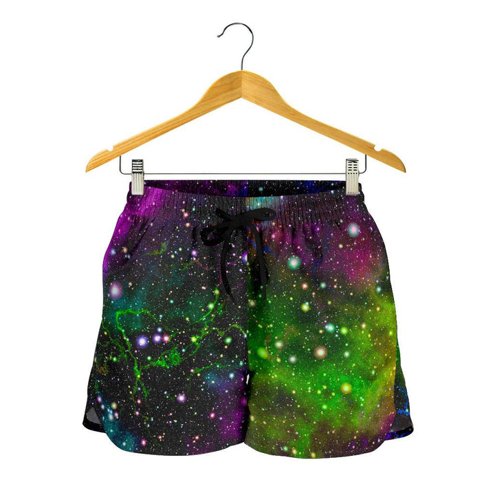 Abstract Dark Galaxy Space Print Women's Shorts GearFrost