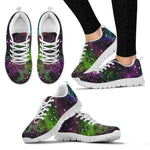 Abstract Dark Galaxy Space Print Women's Sneakers GearFrost