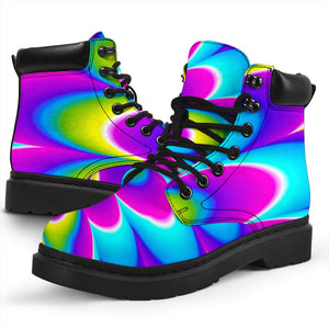 Abstract Dizzy Moving Optical Illusion All Season Boots GearFrost