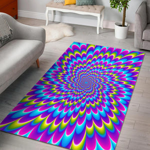 Abstract Dizzy Moving Optical Illusion Area Rug GearFrost