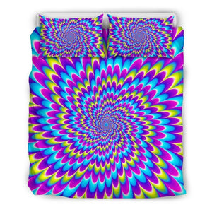 Abstract Dizzy Moving Optical Illusion Duvet Cover Bedding Set GearFrost