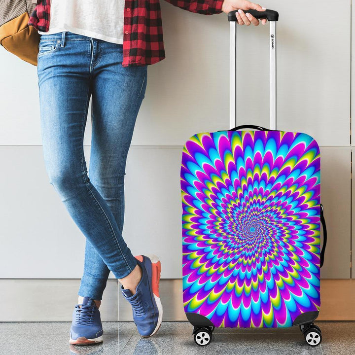 Abstract Dizzy Moving Optical Illusion Luggage Cover GearFrost