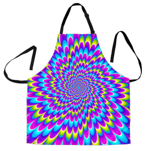 Abstract Dizzy Moving Optical Illusion Men's Apron GearFrost