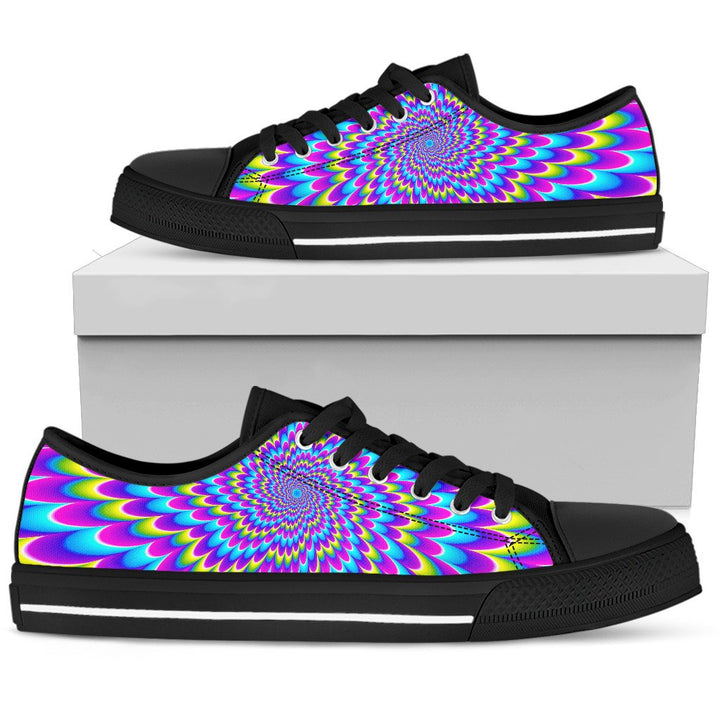Abstract Dizzy Moving Optical Illusion Men's Low Top Shoes GearFrost