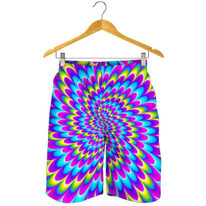 Abstract Dizzy Moving Optical Illusion Men's Shorts GearFrost