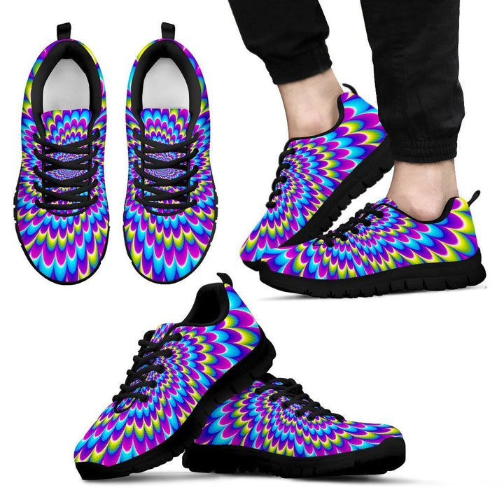 Abstract Dizzy Moving Optical Illusion Men's Sneakers GearFrost