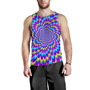 Abstract Dizzy Moving Optical Illusion Men's Tank Top GearFrost