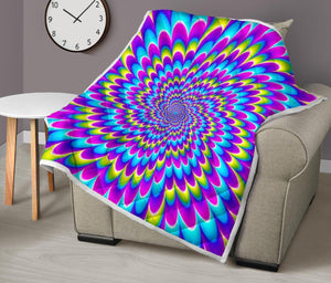 Abstract Dizzy Moving Optical Illusion Quilt GearFrost