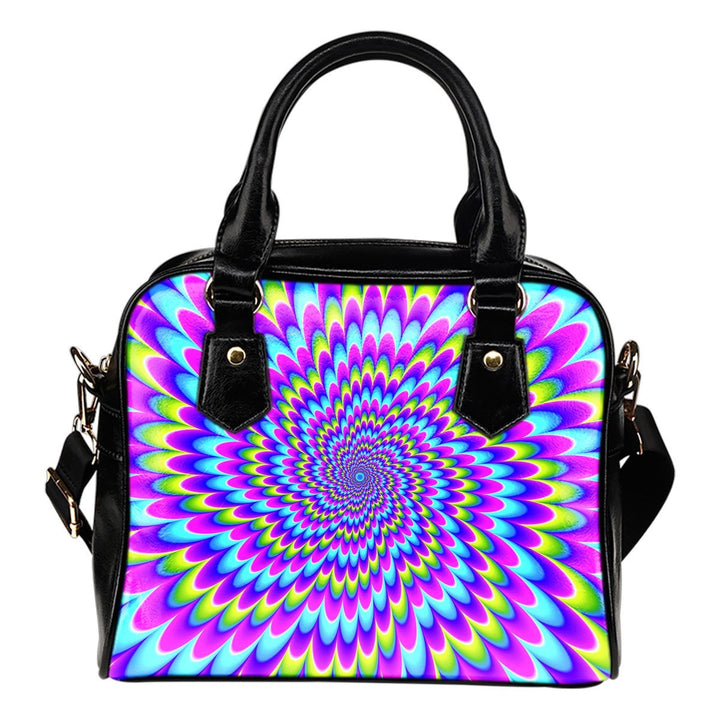 Abstract Dizzy Moving Optical Illusion Shoulder Handbag GearFrost