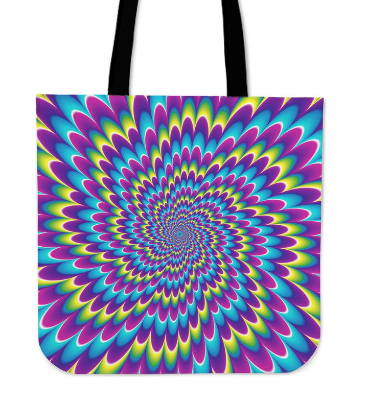 Abstract Dizzy Moving Optical Illusion Tote Bag GearFrost