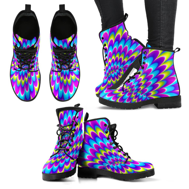 Abstract Dizzy Moving Optical Illusion Women's Boots GearFrost