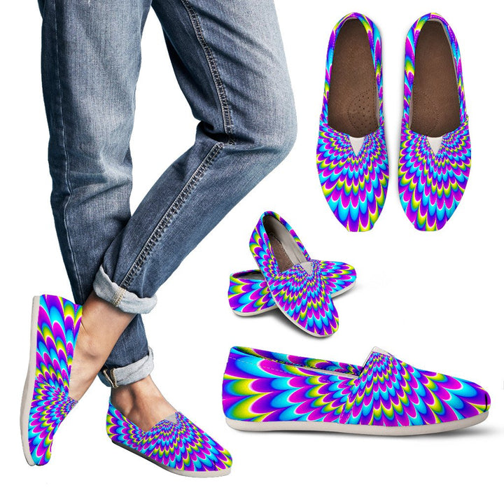 Abstract Dizzy Moving Optical Illusion Women's Casual Shoes GearFrost