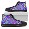 Abstract Dizzy Moving Optical Illusion Women's High Top Shoes GearFrost