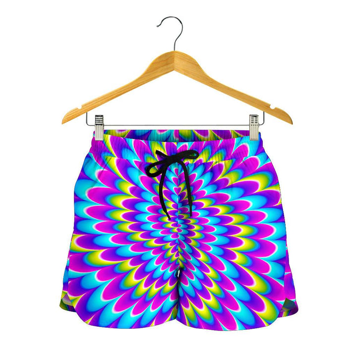 Abstract Dizzy Moving Optical Illusion Women's Shorts GearFrost