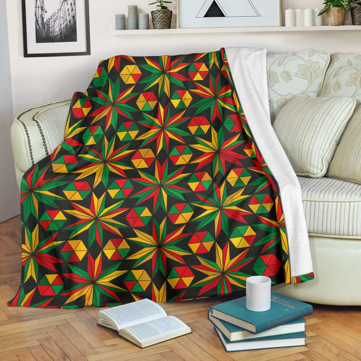 Abstract Geometric Reggae Pattern Print Blanket GearFrost