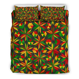 Abstract Geometric Reggae Pattern Print Duvet Cover Bedding Set GearFrost