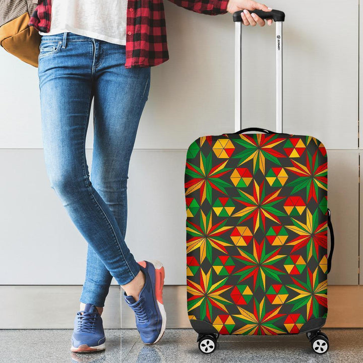 Abstract Geometric Reggae Pattern Print Luggage Cover GearFrost