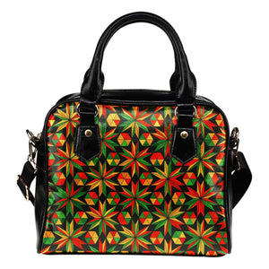 Abstract Geometric Reggae Pattern Print Shoulder Handbag GearFrost