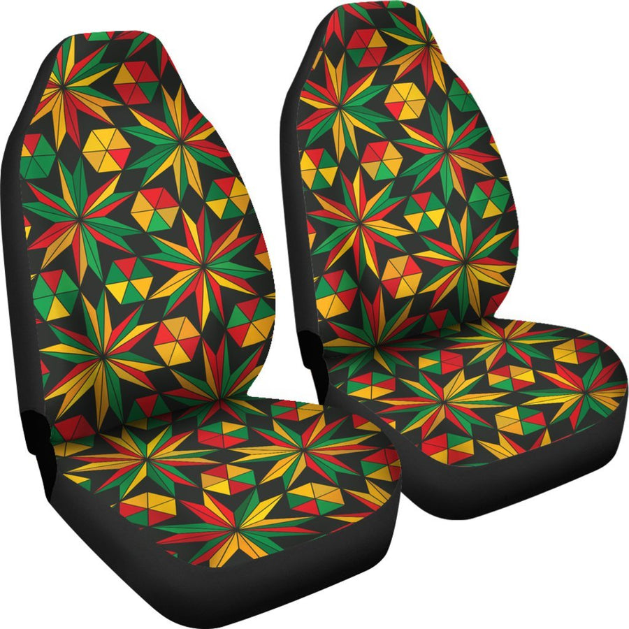 Abstract Geometric Reggae Pattern Print Universal Fit Car Seat Covers GearFrost