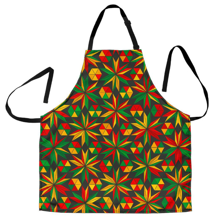 Abstract Geometric Reggae Pattern Print Women's Apron GearFrost