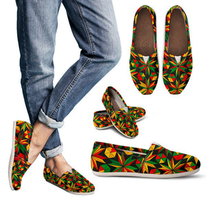 Abstract Geometric Reggae Pattern Print Women's Casual Shoes GearFrost
