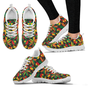 Abstract Geometric Reggae Pattern Print Women's Sneakers GearFrost