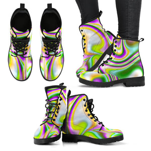 Abstract Holographic Liquid Trippy Print Women's Boots GearFrost