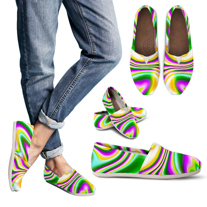 Abstract Holographic Liquid Trippy Print Women's Casual Shoes GearFrost