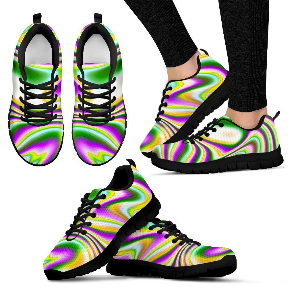 Abstract Holographic Liquid Trippy Print Women's Sneakers GearFrost