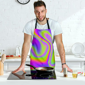 Abstract Holographic Trippy Print Men's Apron GearFrost