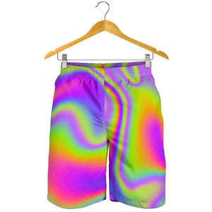 Abstract Holographic Trippy Print Men's Shorts GearFrost