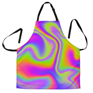 Abstract Holographic Trippy Print Women's Apron GearFrost