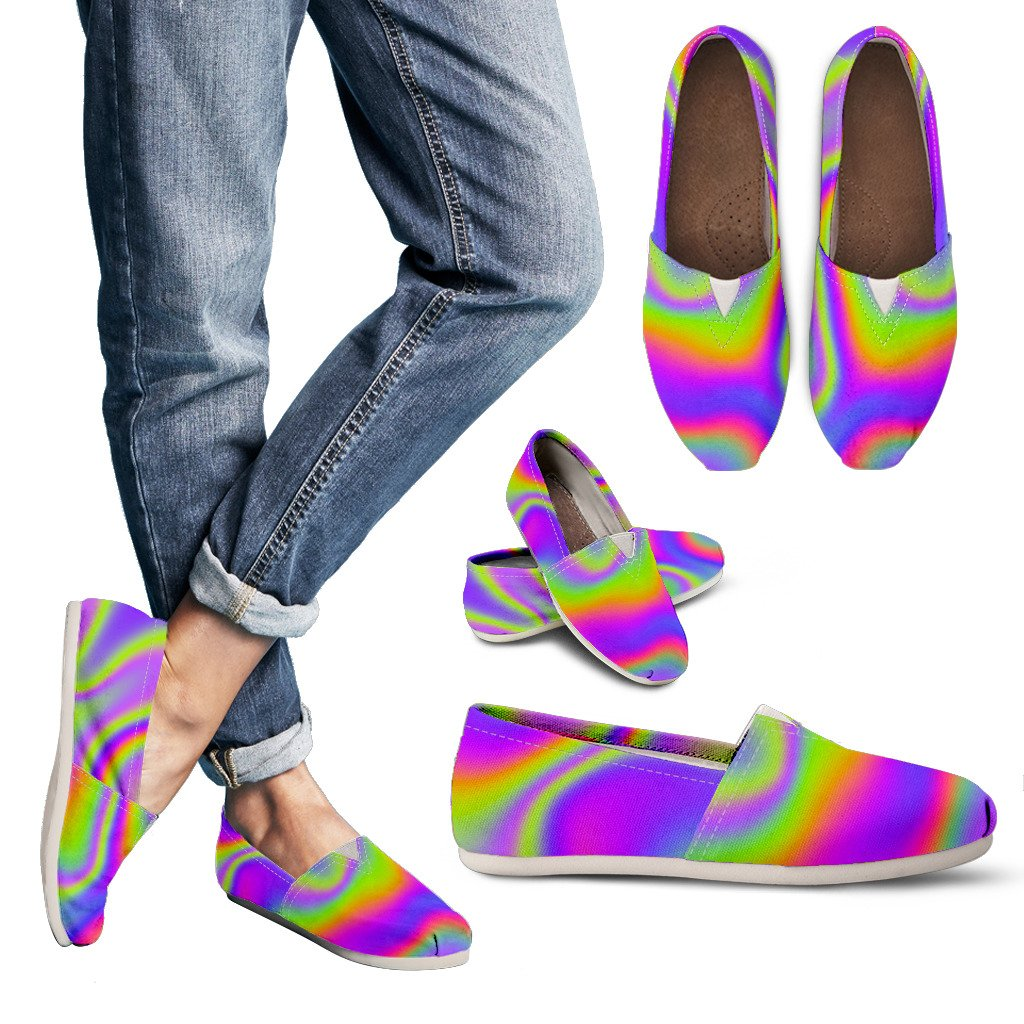 Abstract Holographic Trippy Print Women's Casual Shoes GearFrost