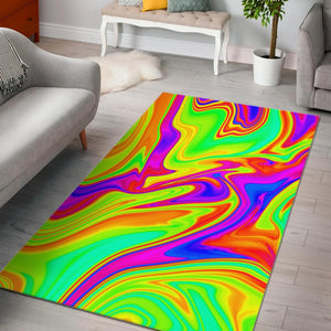 Abstract Liquid Trippy Print Area Rug GearFrost