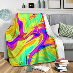 Abstract Liquid Trippy Print Blanket GearFrost