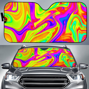 Abstract Liquid Trippy Print Car Sun Shade GearFrost