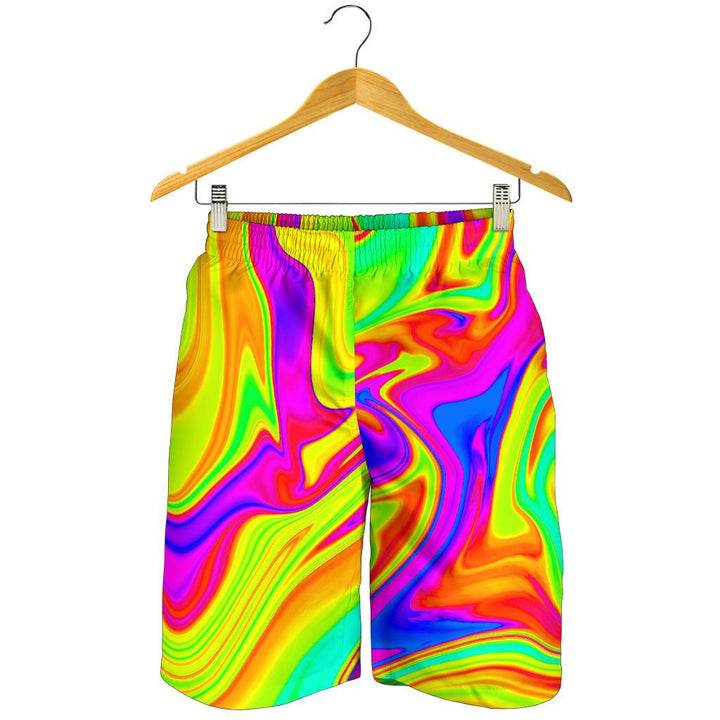 Abstract Liquid Trippy Print Men's Shorts GearFrost