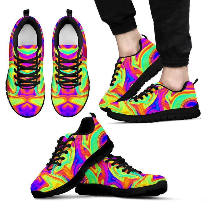 Abstract Liquid Trippy Print Men's Sneakers GearFrost