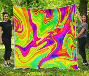 Abstract Liquid Trippy Print Quilt GearFrost