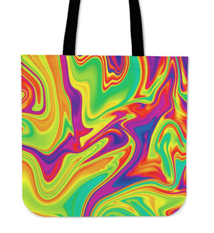 Abstract Liquid Trippy Print Tote Bag GearFrost