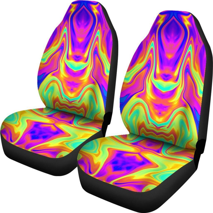 Abstract Liquid Trippy Print Universal Fit Car Seat Covers GearFrost
