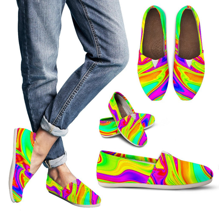 Abstract Liquid Trippy Print Women's Casual Shoes GearFrost