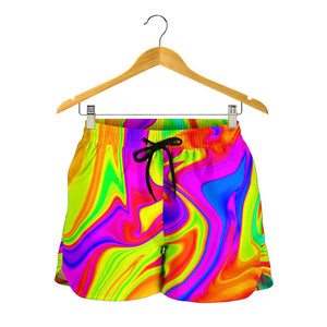 Abstract Liquid Trippy Print Women's Shorts GearFrost