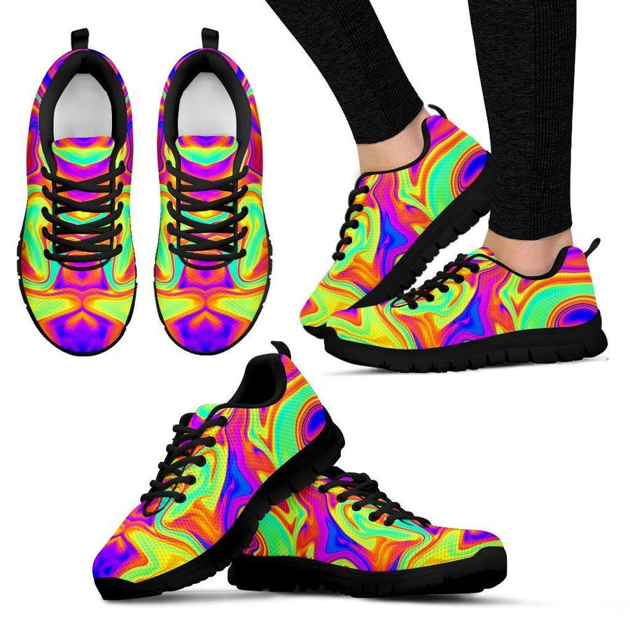 Abstract Liquid Trippy Print Women's Sneakers GearFrost