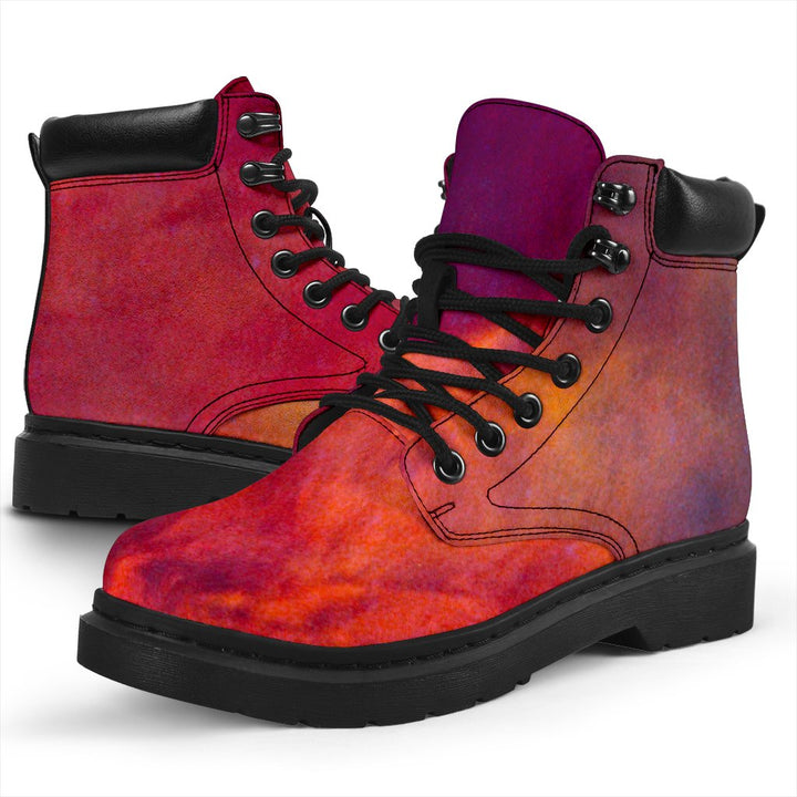 Abstract Nebula Cloud Galaxy Space Print All Season Boots GearFrost