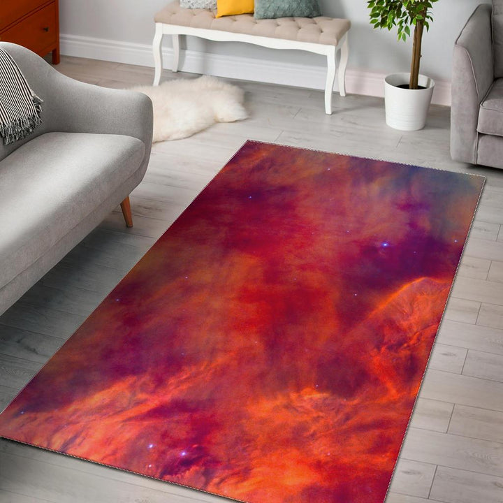 Abstract Nebula Cloud Galaxy Space Print Area Rug GearFrost