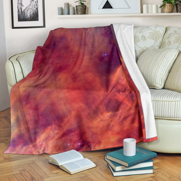 Abstract Nebula Cloud Galaxy Space Print Blanket GearFrost