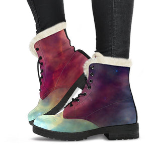 Abstract Nebula Cloud Galaxy Space Print Comfy Boots GearFrost