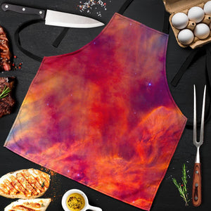 Abstract Nebula Cloud Galaxy Space Print Men's Apron GearFrost